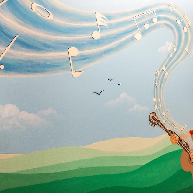 Austin Hallway Mural Detial