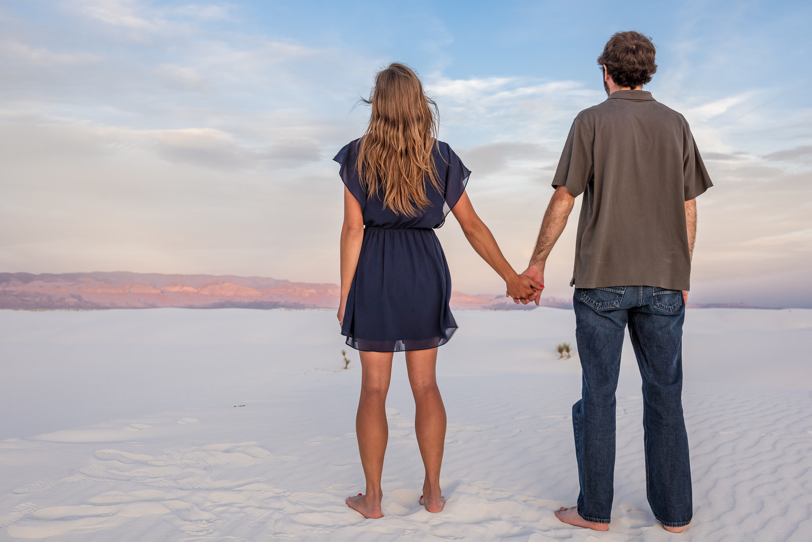 Engagement Photos at White Sands, New Mexico