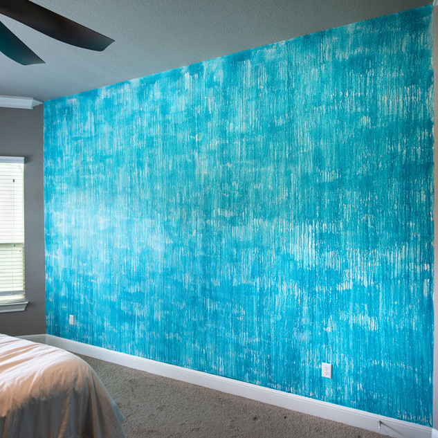 Drip Accent Wall