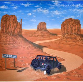 Utah Jeep Mural
