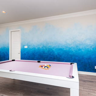 Blue Ombre Accent Wall