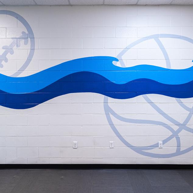 Brushy Creek Hallway Mural Detail