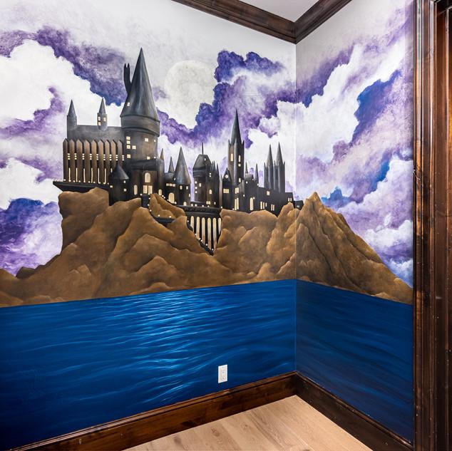Harry Potter Themed Mural