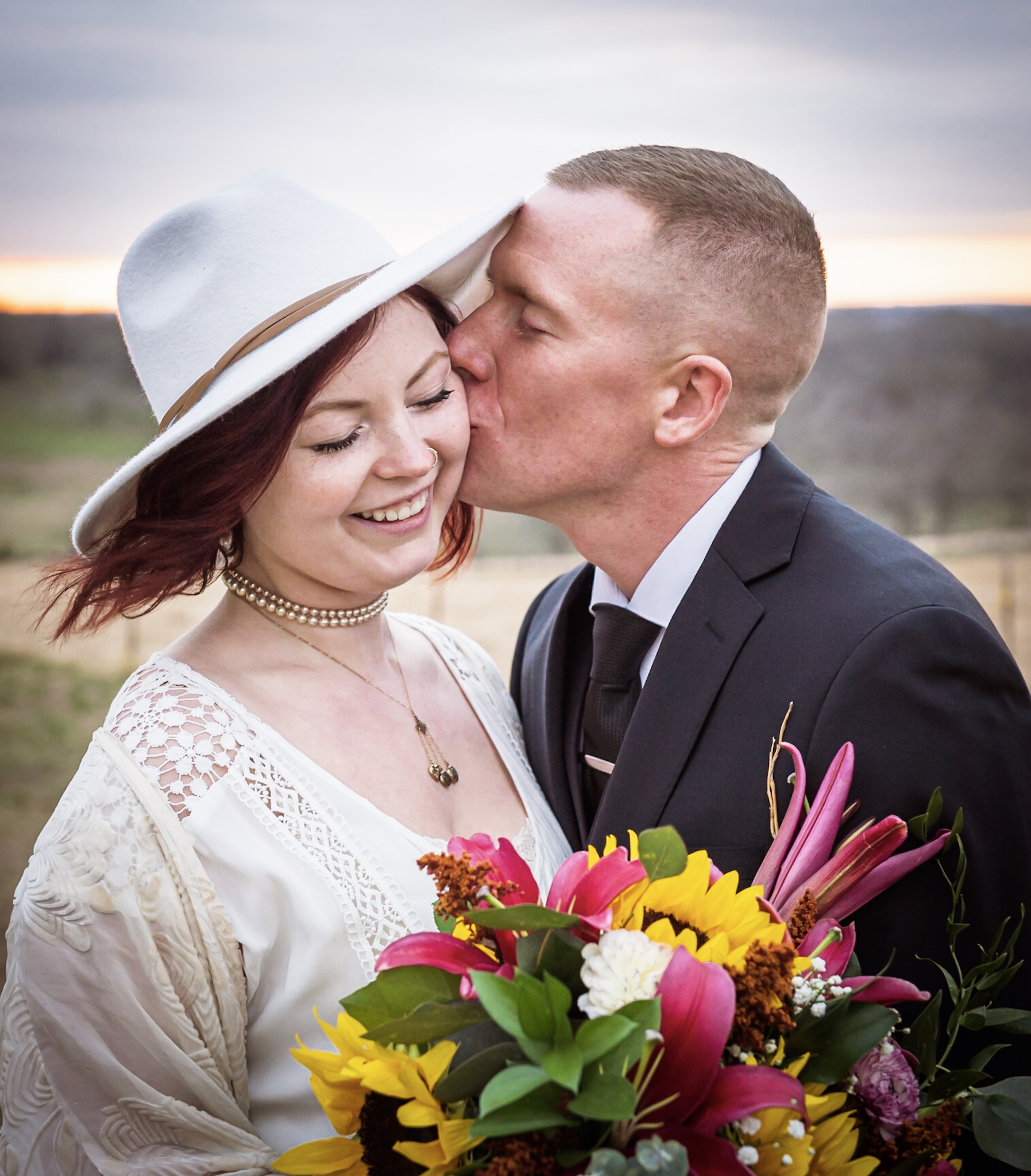 Event Photography - Couple kissing at private event in Bartlett, TX