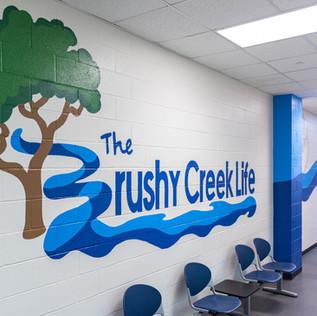 Brushy Creek Life Hallway Mural