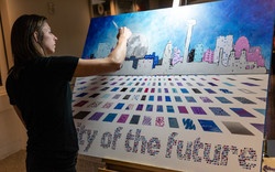 Live Painting - During City of the Future in San Antonio, TX