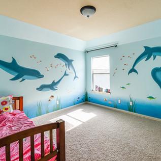 Dolphin Kid's Room Mural