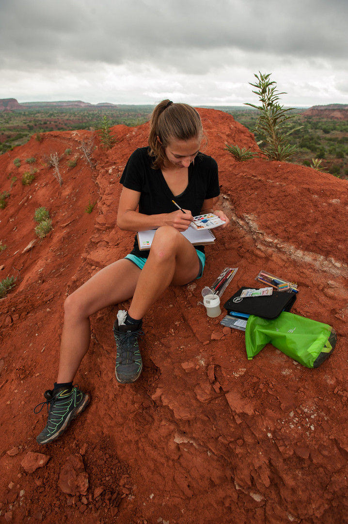 Backpacking in Caprock Canyon State Park