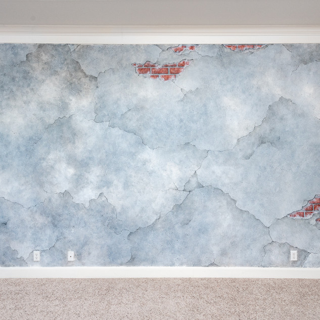Broken Concrete Accent Walls