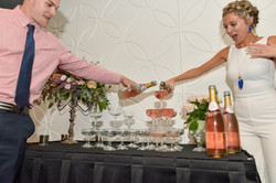 Event Photography - Champagne Tower at Rehearsal Dinner in Kansas City, MO