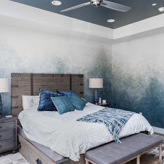 Ombre Ragged Accent Wall