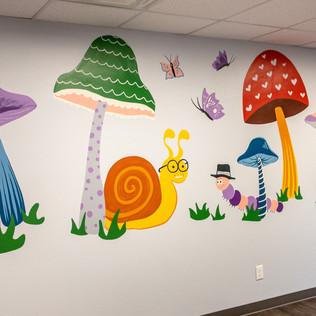 Mushroom Waiting Room Mural