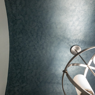 Arched 2-Tone Metallic Ceiling