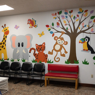 Animal Waiting Room Mural