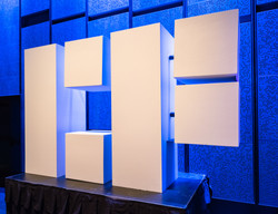 Event Art - Life-size block letter logo for City of the Future in San Antonio, TX