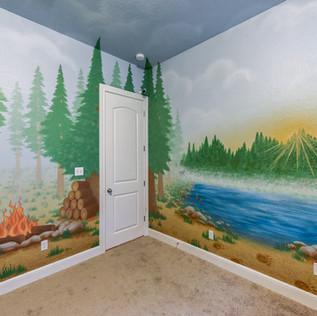 Kid's Room Camping Mural