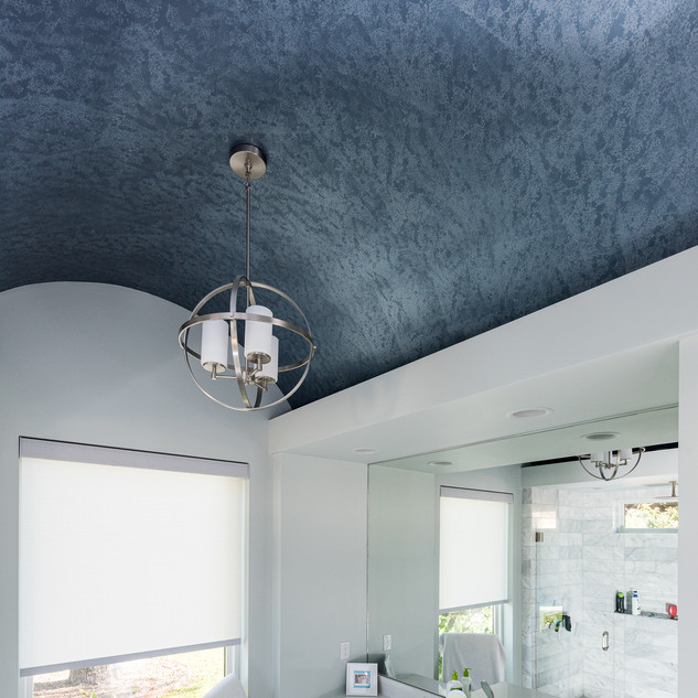 Metallic 2-Toned Arched Ceiling