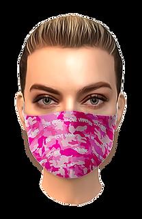 Mascherina filtrante protettiva per donna con design moderno ed artistico