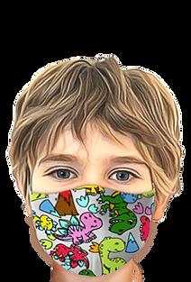 Mascherine colorate disegni cartoni animati per bambini