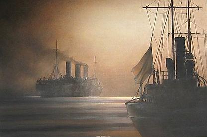©RG - Le soir descend sur les navires -