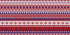 8. 인효진_Hot Punk Project_Colorful Patterns 'Fair isle patterns_Blue, Red and White', 300×100cm, Pigment print, 2016.jpg