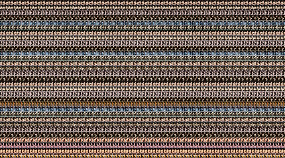 2. 인효진_Hot Punk Project_Colorful Patterns, 'Black Stripes', 100×180cm, Pigment print, 2015.jpg