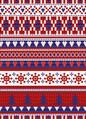 8. 인효진_Hot Punk Project_Colorful Patterns 'Fair isle patterns_Blue, Red and White', 300×100cm, Pigment print, 2016_edited.jpg