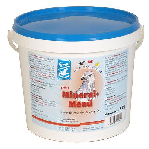 Backs Mineral Menu 6 kg (mezcla de minerales enriquecidos con anis)