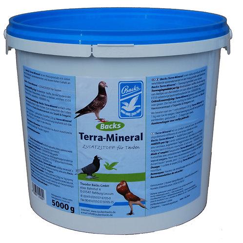 Backs Terra mineral 4kg, (100% natural; regula el intestino y mejora la pluma)