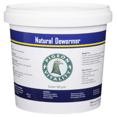 Pigeon Vitality Natural Dewormer 450 gr, (la solución 100% natural contra los pa