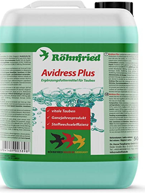 Rohnfried Avidress Plus 5 litros (preventivo 100% natural contra salmonelosis).