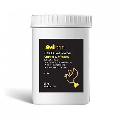 Aviform Calciform Powder 500gr, (Calcio + Vitamina D3 soluble en agua)