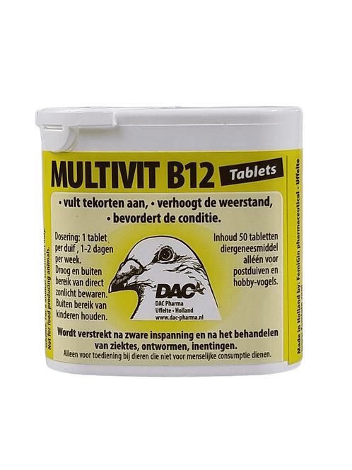 Dac Multivit B12 50 pastillas (complejo multivitamínico con extra de B12)