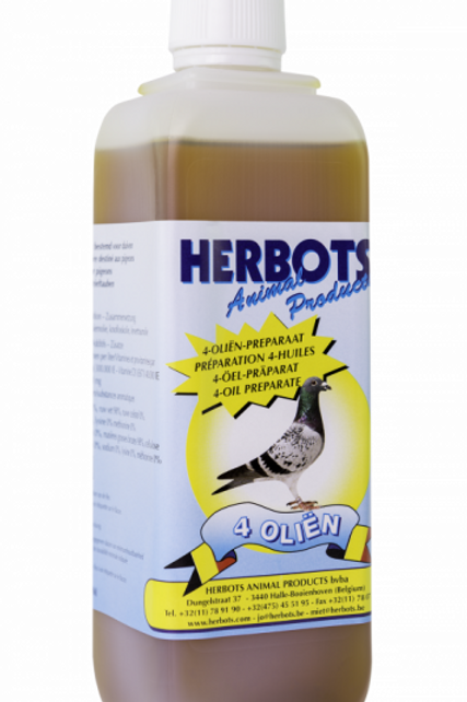 Herbots 4 Oil, 500 ml (mezcla de 4 aceites naturales).