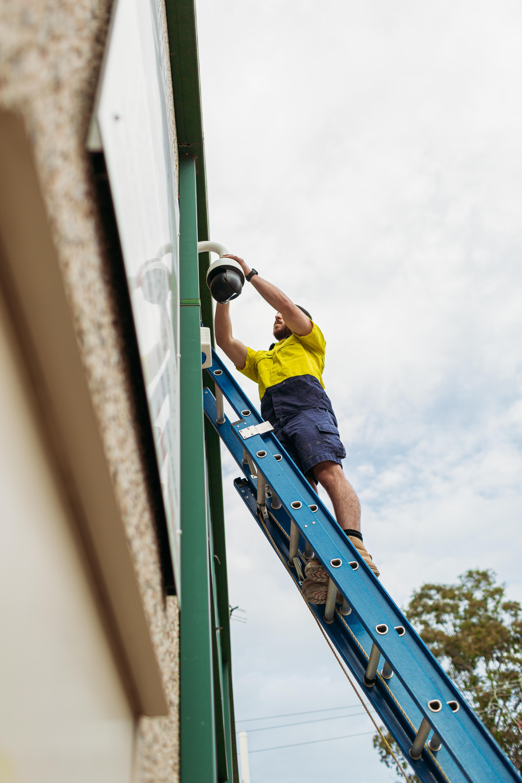 OzTech Sparks installing CCTV