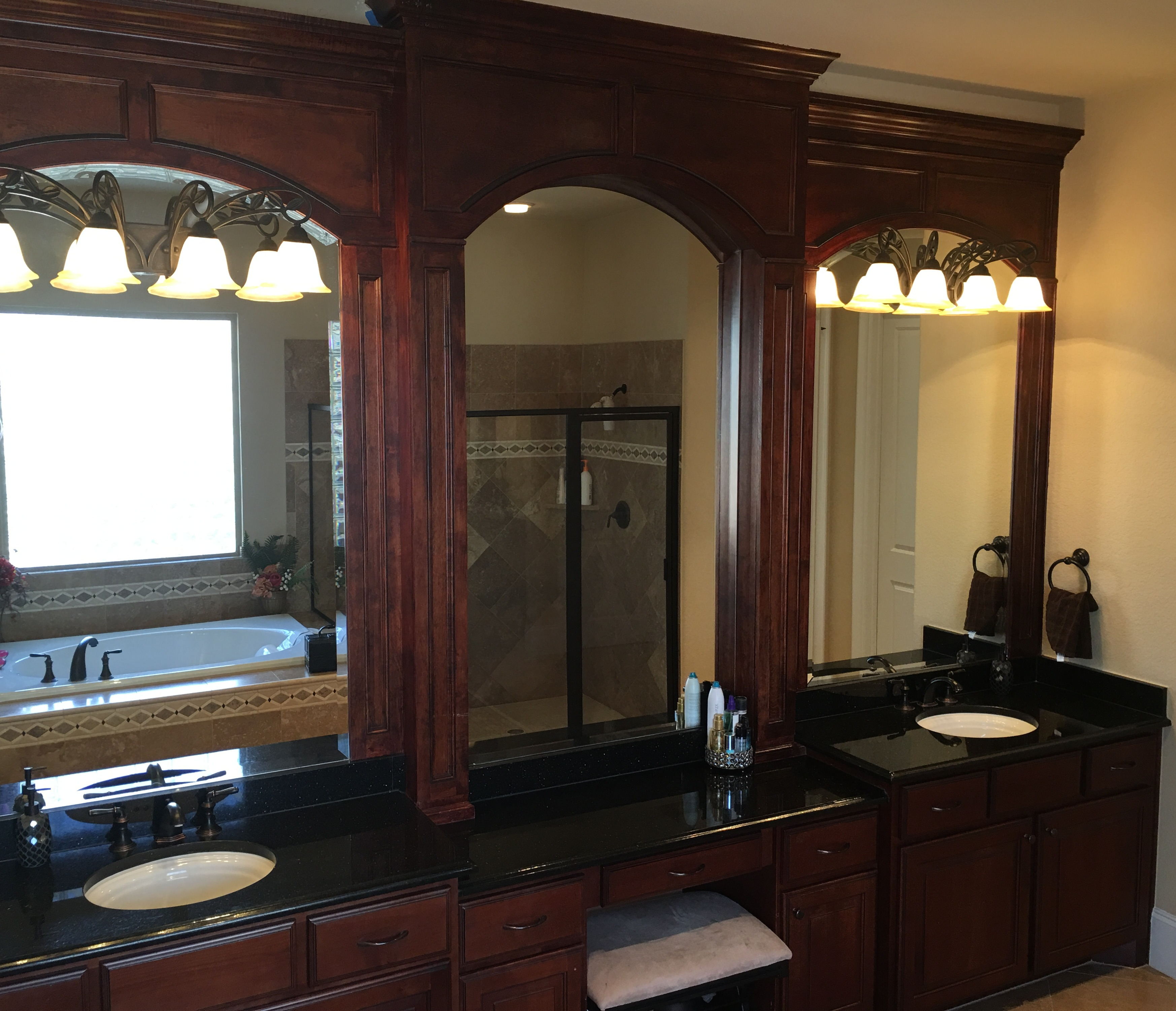 Master Bath Custom Mirrors