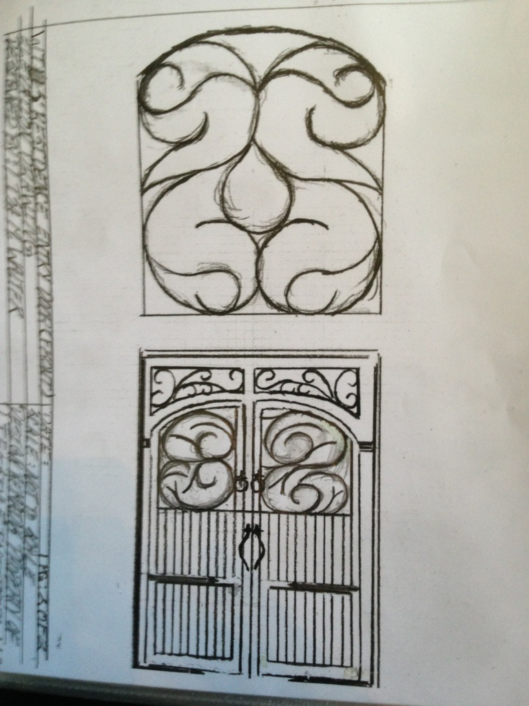 Custom wood garage door design
