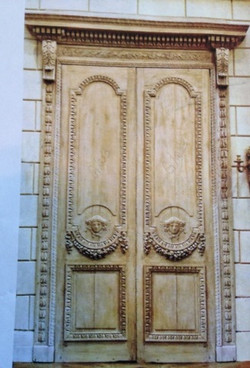 Custom Wood hand carved front doors
