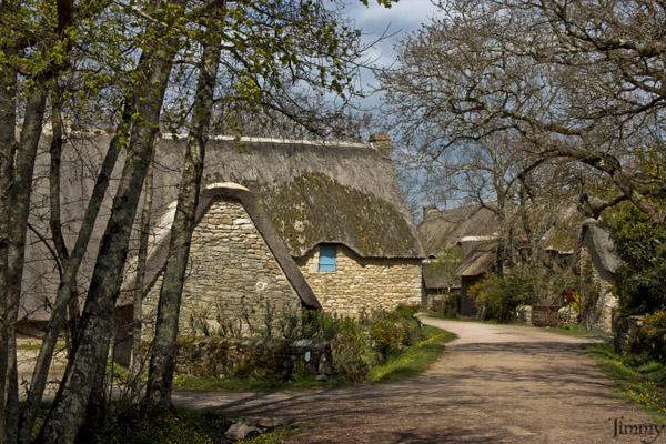 Le village de Kerhinet en Brière