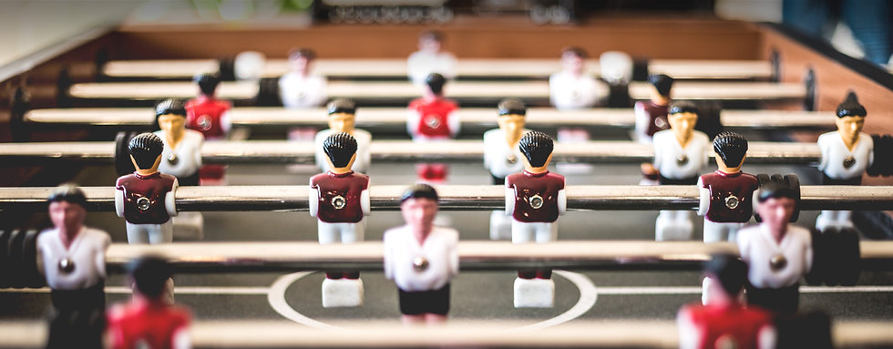 table football game close up