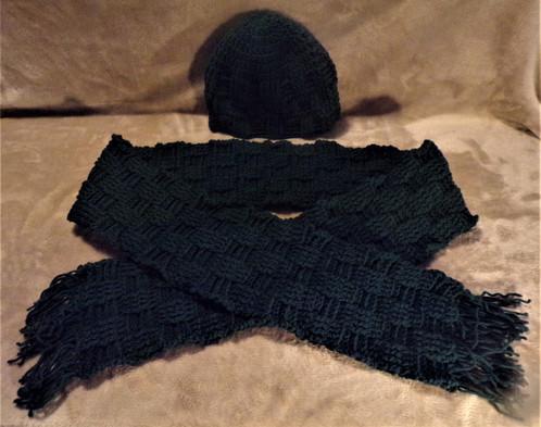 Handsome Basket Weave Hat Scarf Set Paul Nyhan