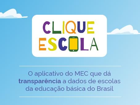 Clique Escola: Transparência nos dados escolares