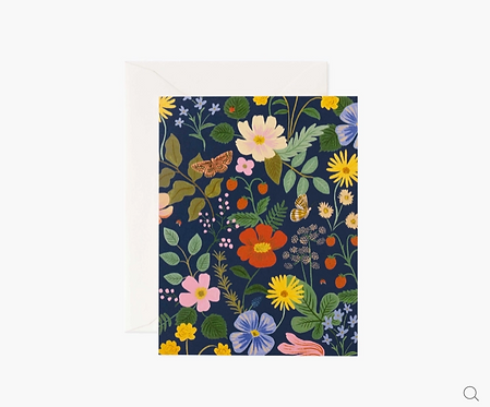 Rifle Paper co. — Carte Fields Navy