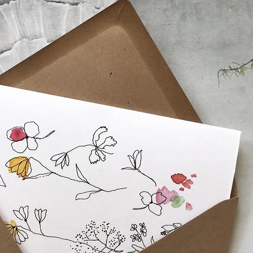 Papillon Papillonnage — Carte tendrement