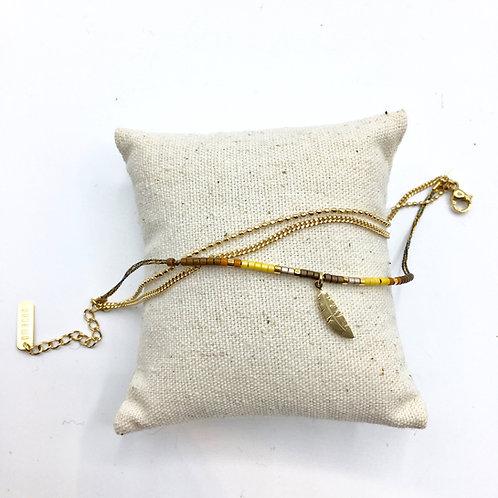 Omacoo — Bracelet 3 rangs perles Plume
