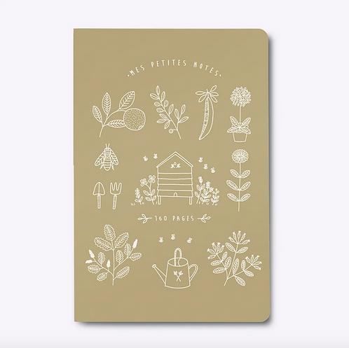 Les Éditions du Paon — Cahier dos carré Mon Jardin kraft