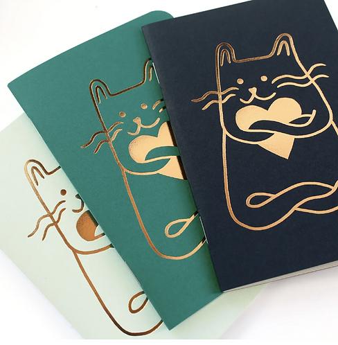 Les Éditions du Paon — Carnet de poche Cat in Love