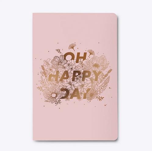 Les Éditions du Paon — Cahier dos carré Happy day Rose
