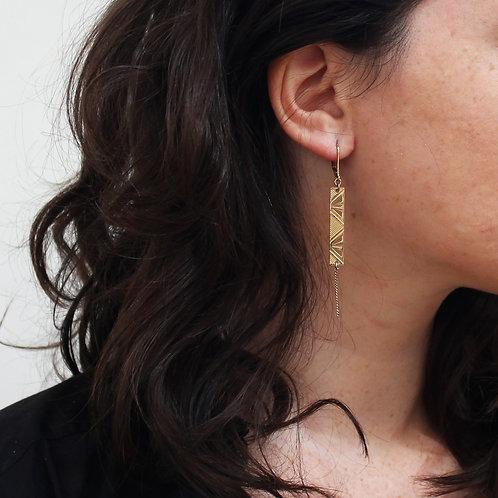 Amélie Blaise — Boucles d'oreilles Rythmes dorées