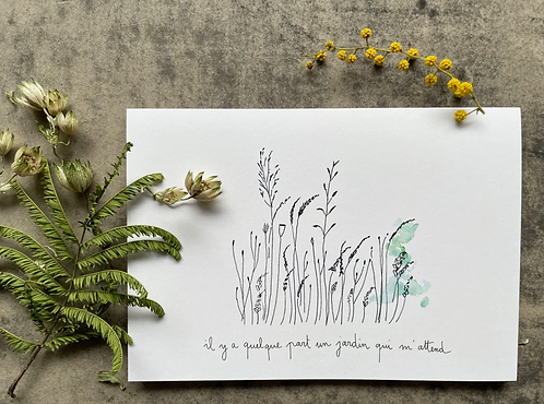 Papillon Papillonnage — Carte Quelque part un jardin